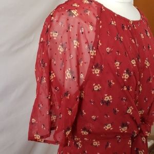 love, Fire Dresses - Floral Front Tie Dress